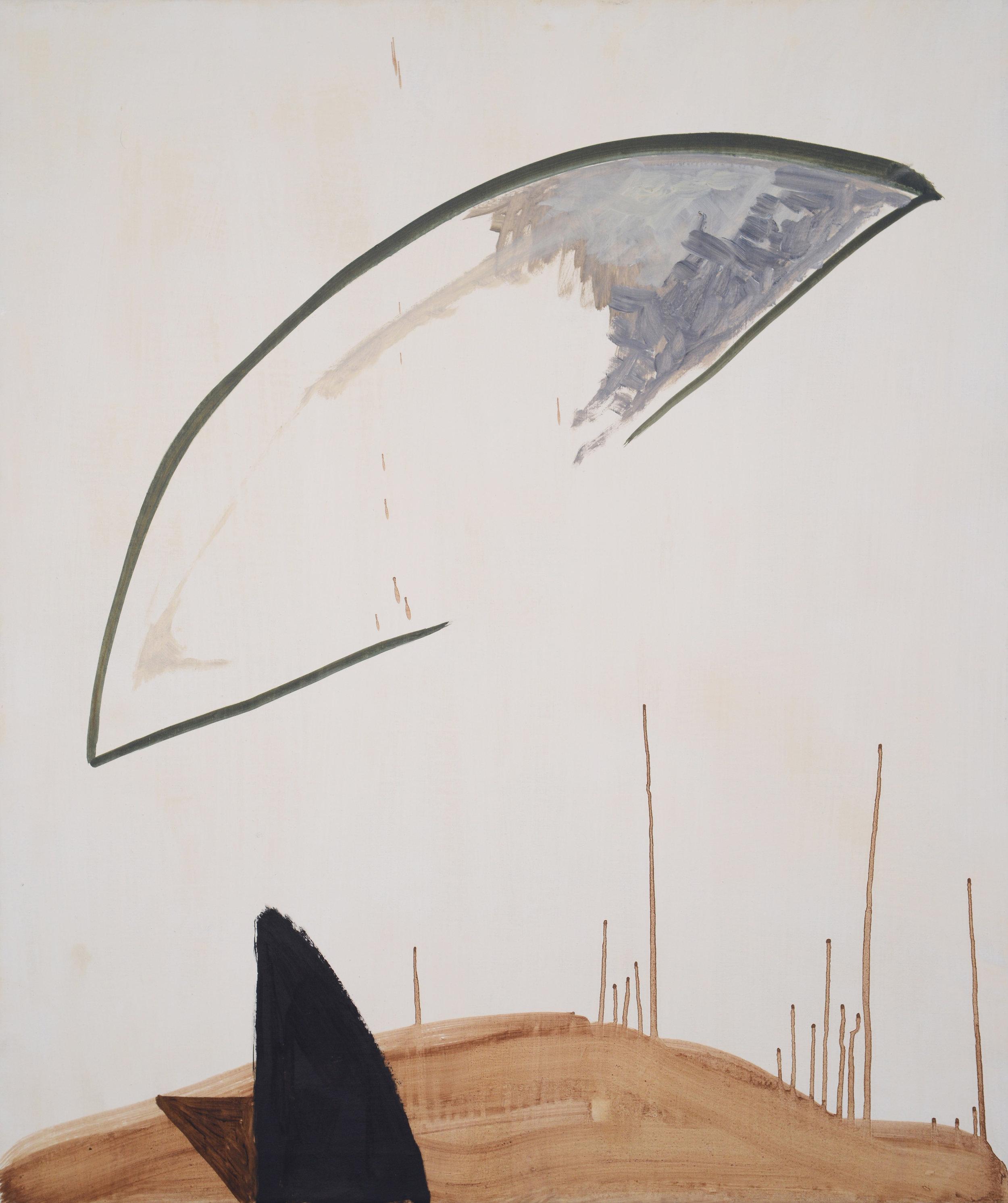 Counselor, 2013, Oil on half oil ground, 90 x 75 cm