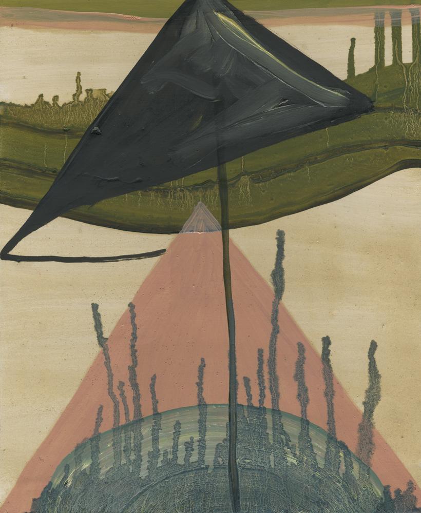 Intervisit, 2011, Oil on half oil ground, 25 x 35 cm