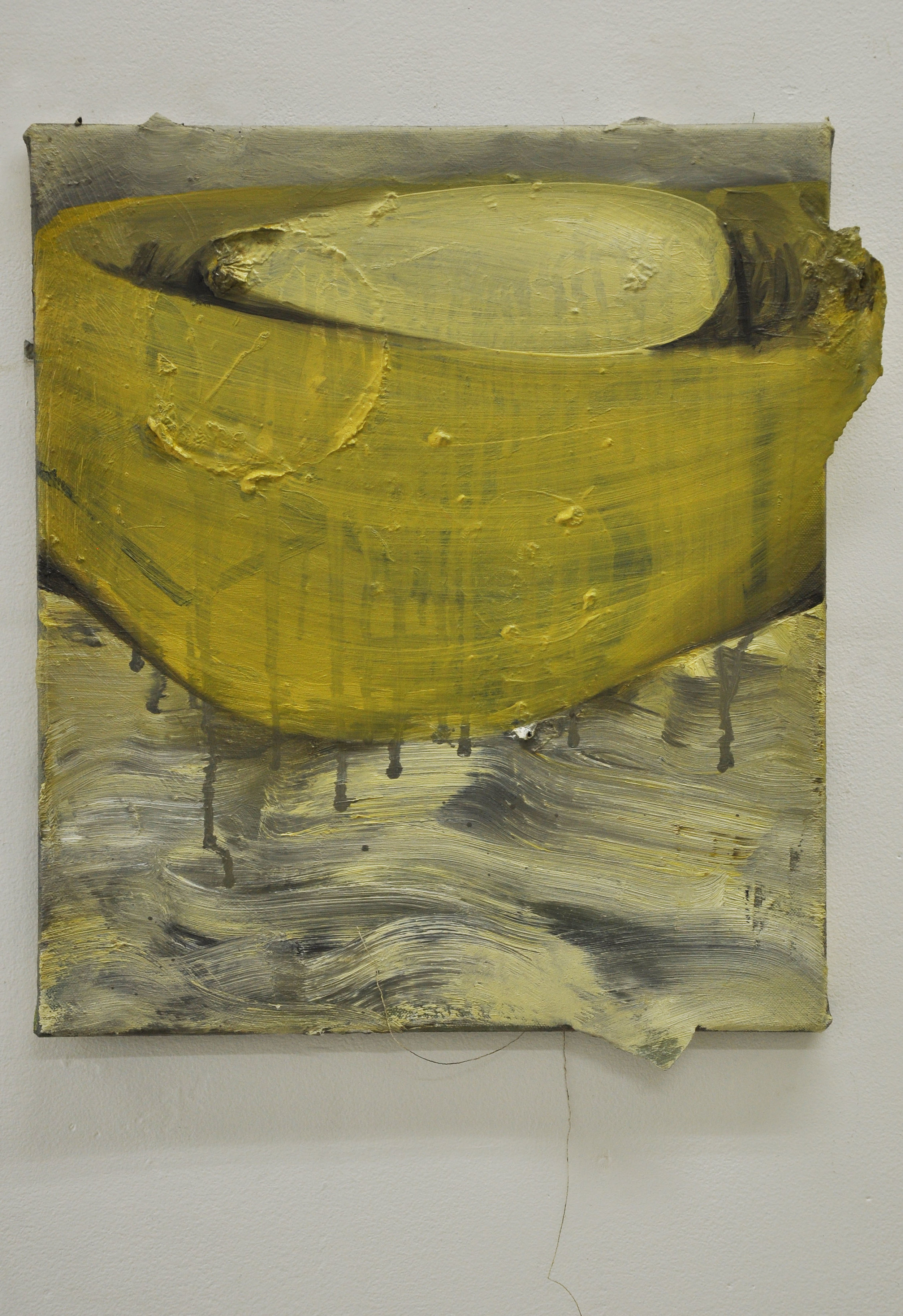 Waist, 2010, Oil and paper on canvas, 40 x 35 cm