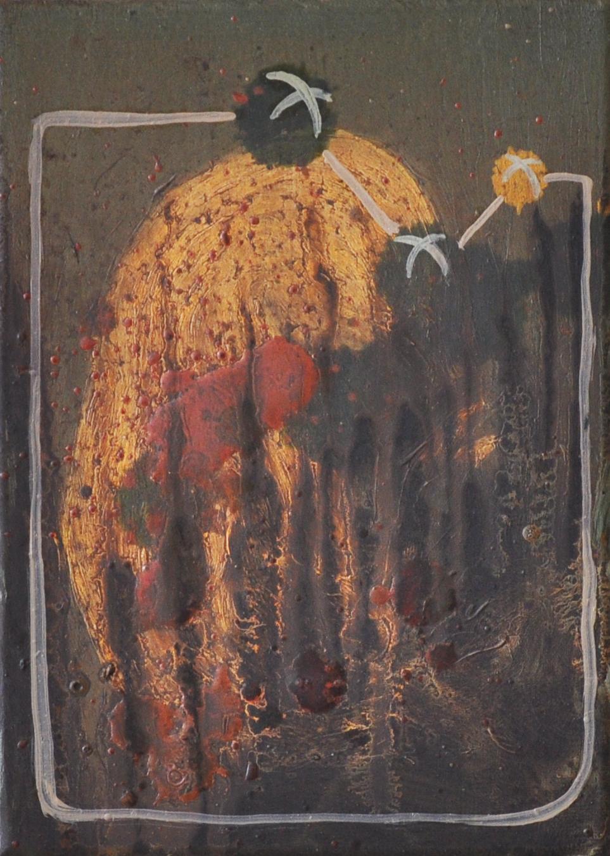 XO, 2010, Oil on cotton, 13 x 18 cm