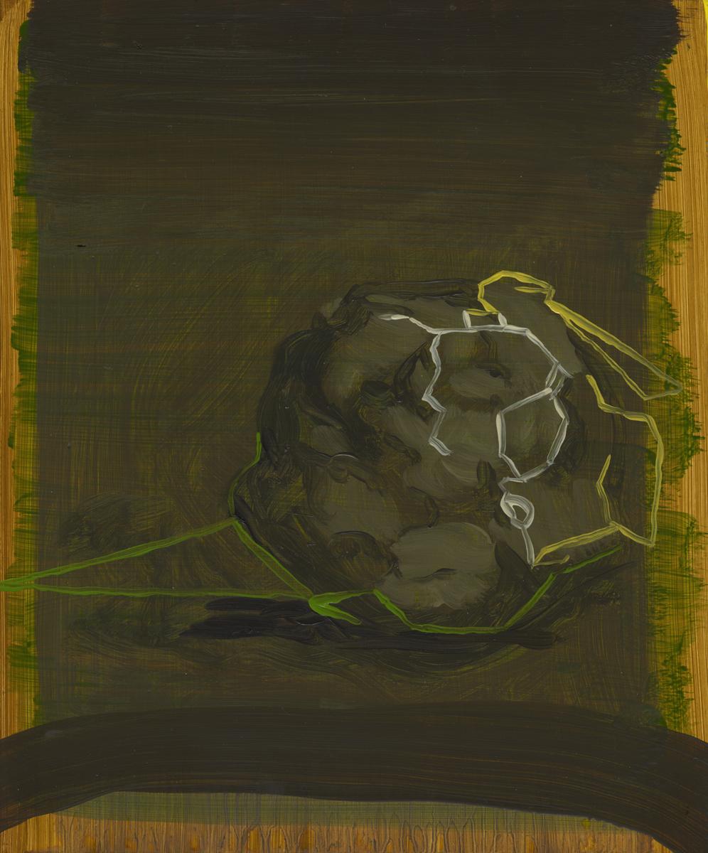 Rock, 2010, Oil on cotton, 30 x 25 cm