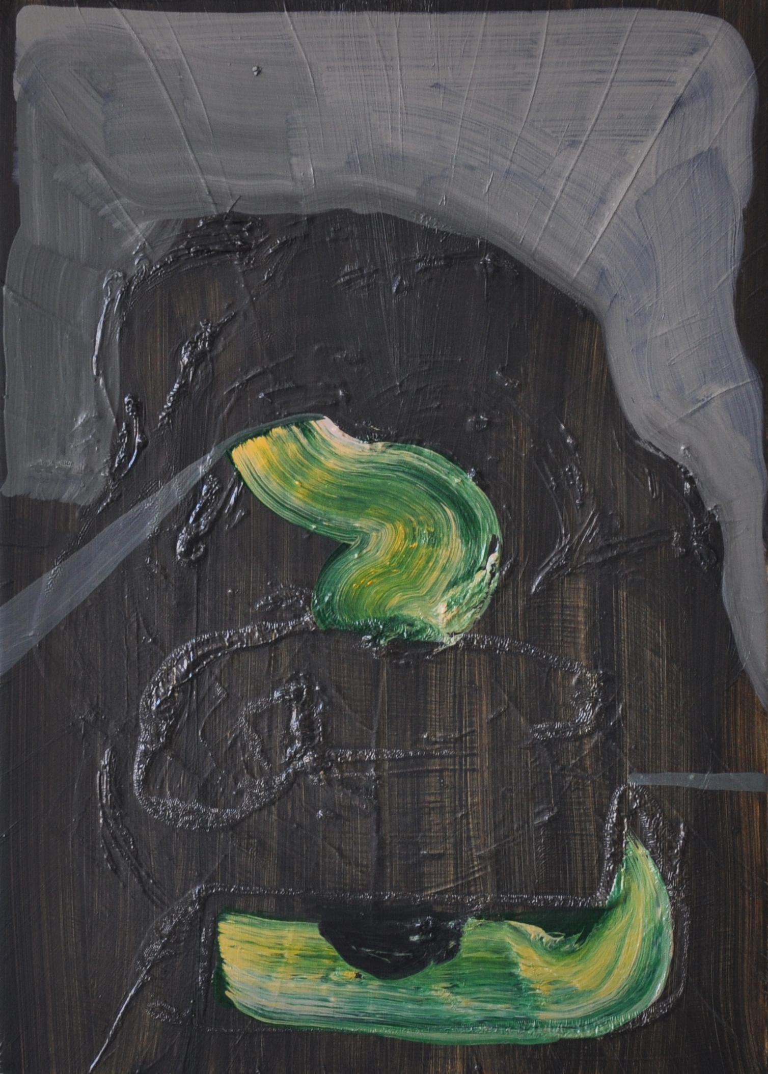Black Smoker, 2011, Oil on cotton, 35 x 25 cm