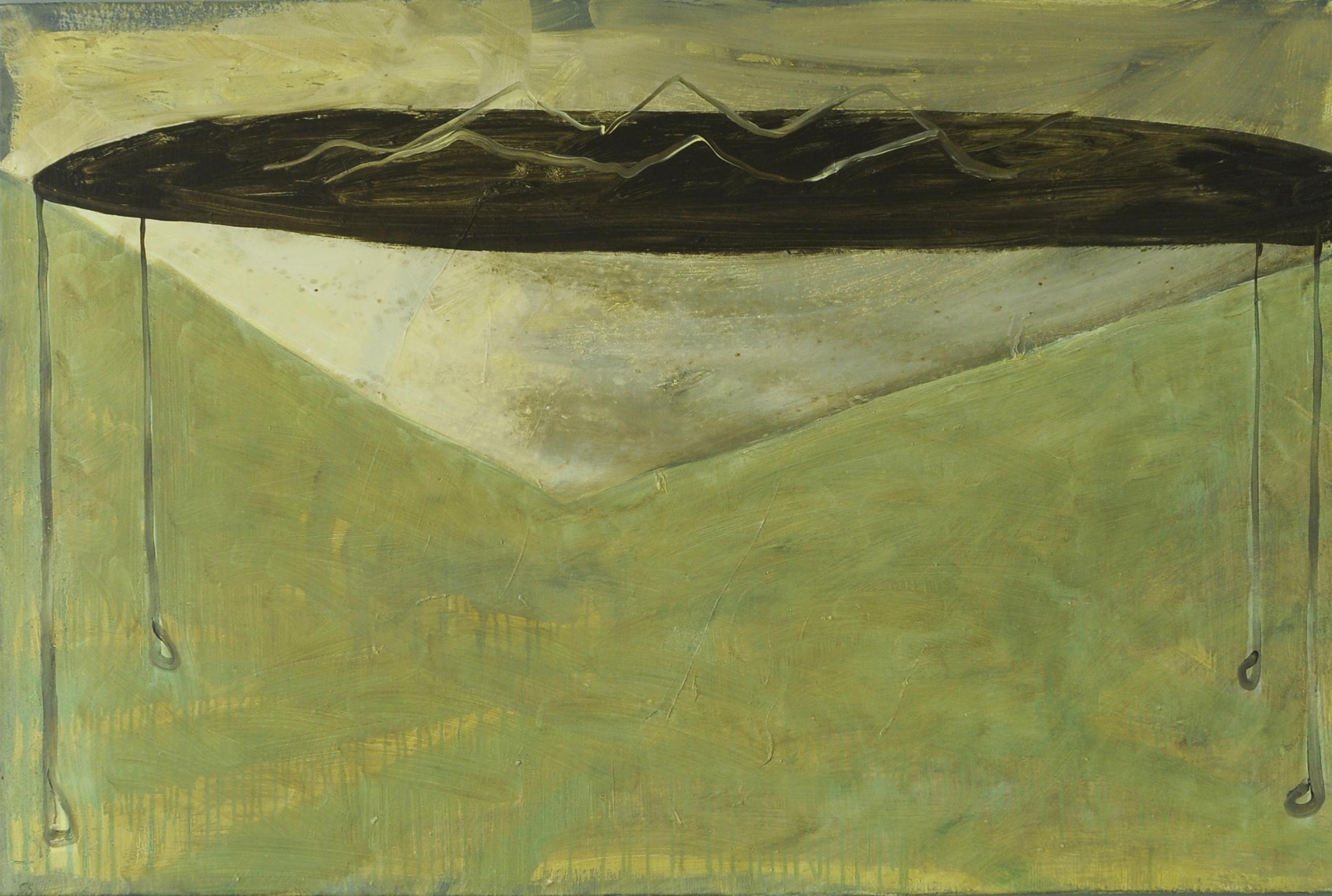 Wave, 2011, Oil on half oil ground, 80 x 120 cm