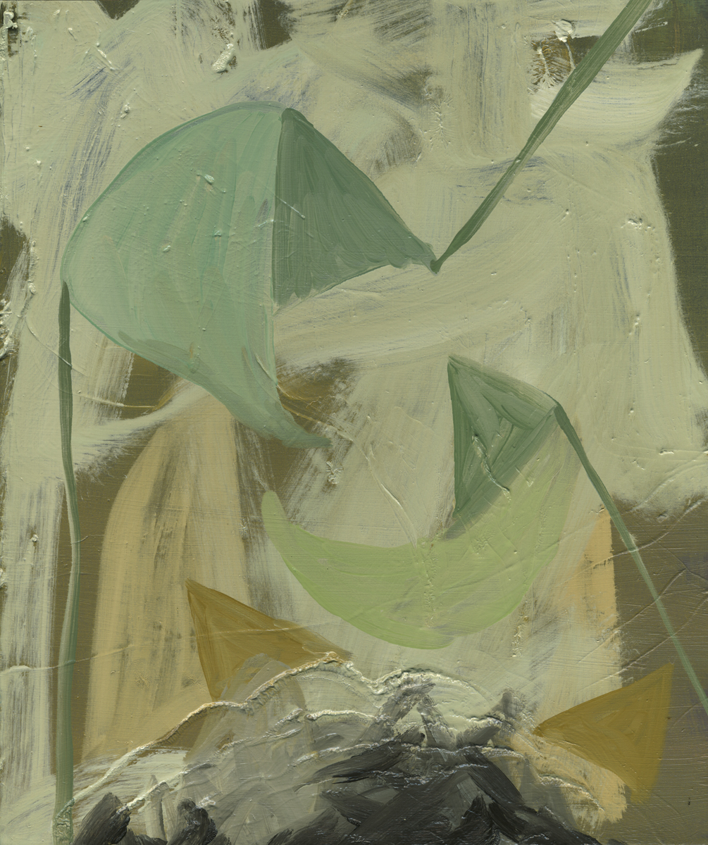 Cup, 2011, Oil on cotton, 30 x 25 cm