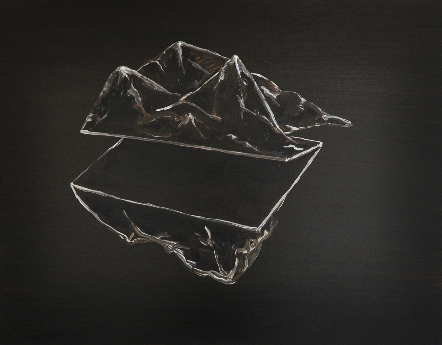 Parallel Ridge, 2011, Oil on cotton, 70 x 90 cm