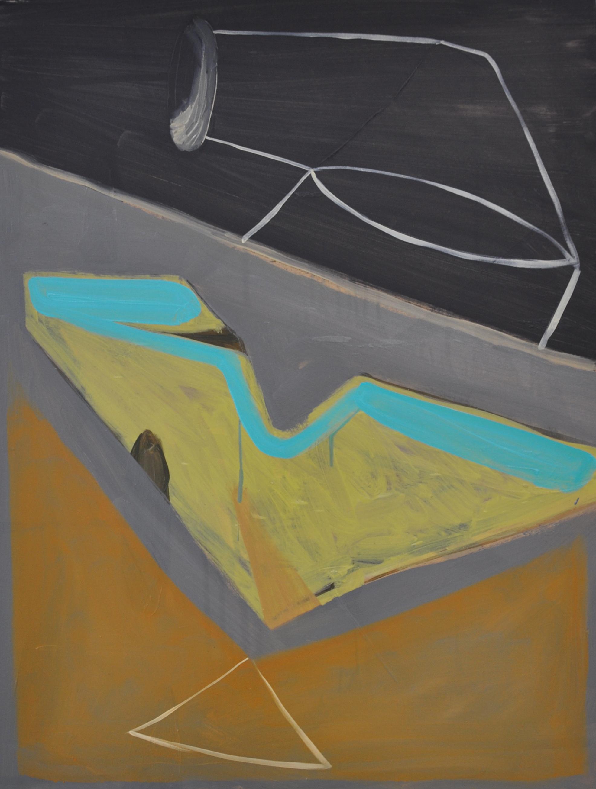 Body, 2011, Oil on cotton, 80 x 60 cm