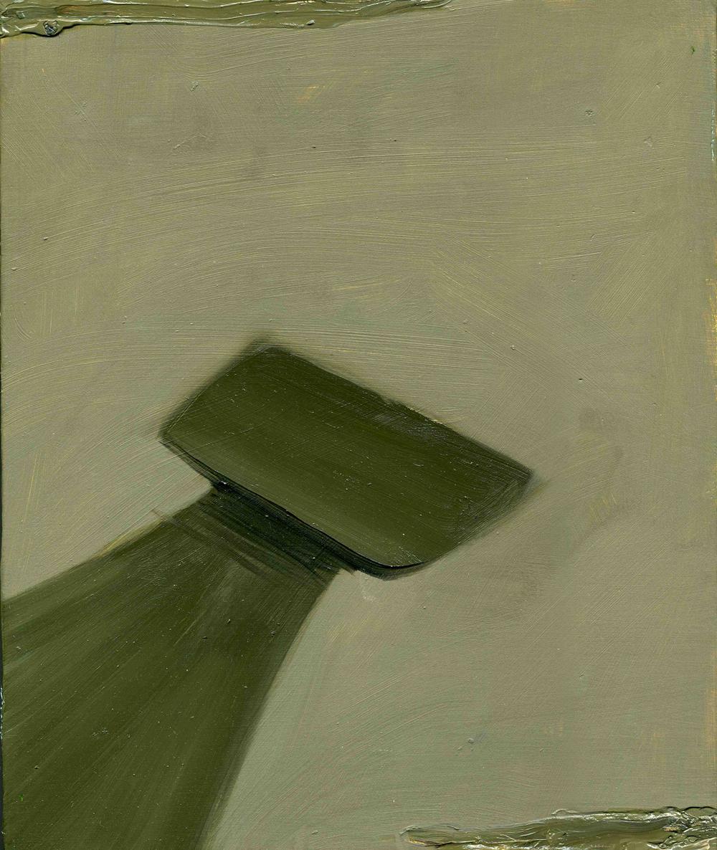 Ledge, 2009, Oil on cotton, 30 x 25 cm