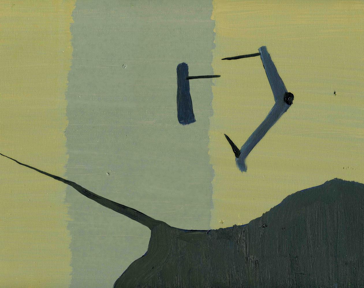 Spine, 2009, Oil on cotton, 35 x 45 cm