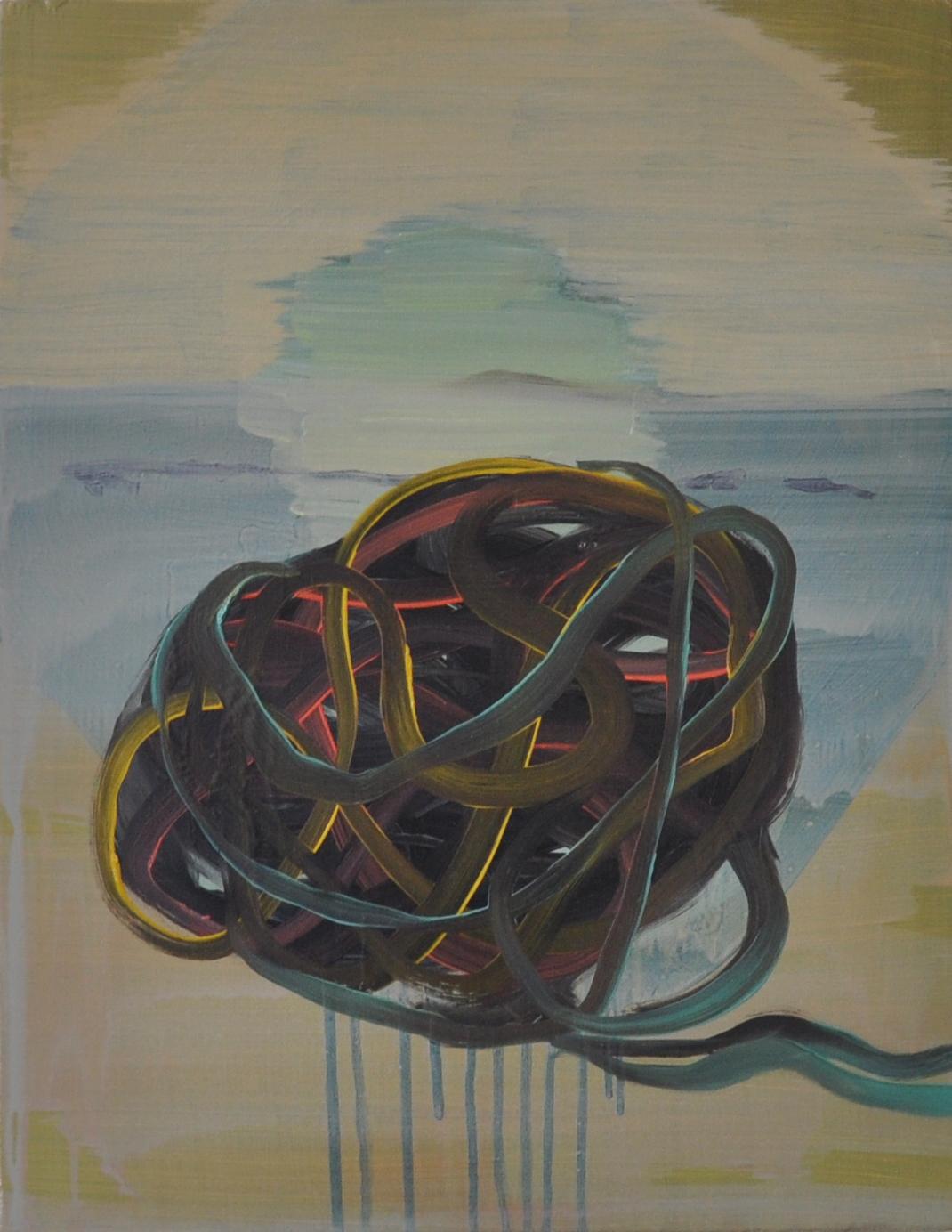 Knot, 2009, Oil on cotton, 46 x 36 cm