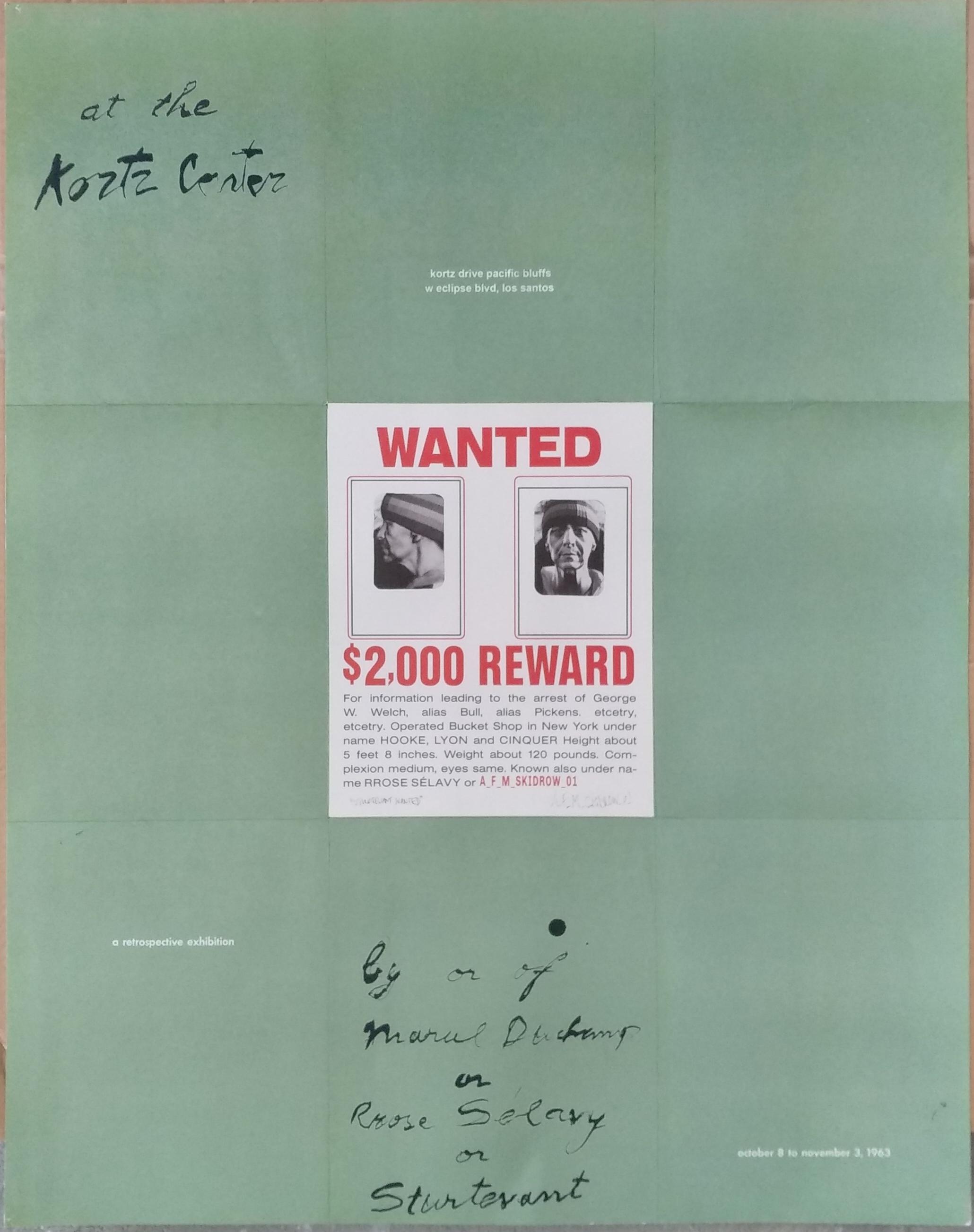 Alan Butler, Duchamp Sturtevant Homelss NPC Redux Poster, 2019