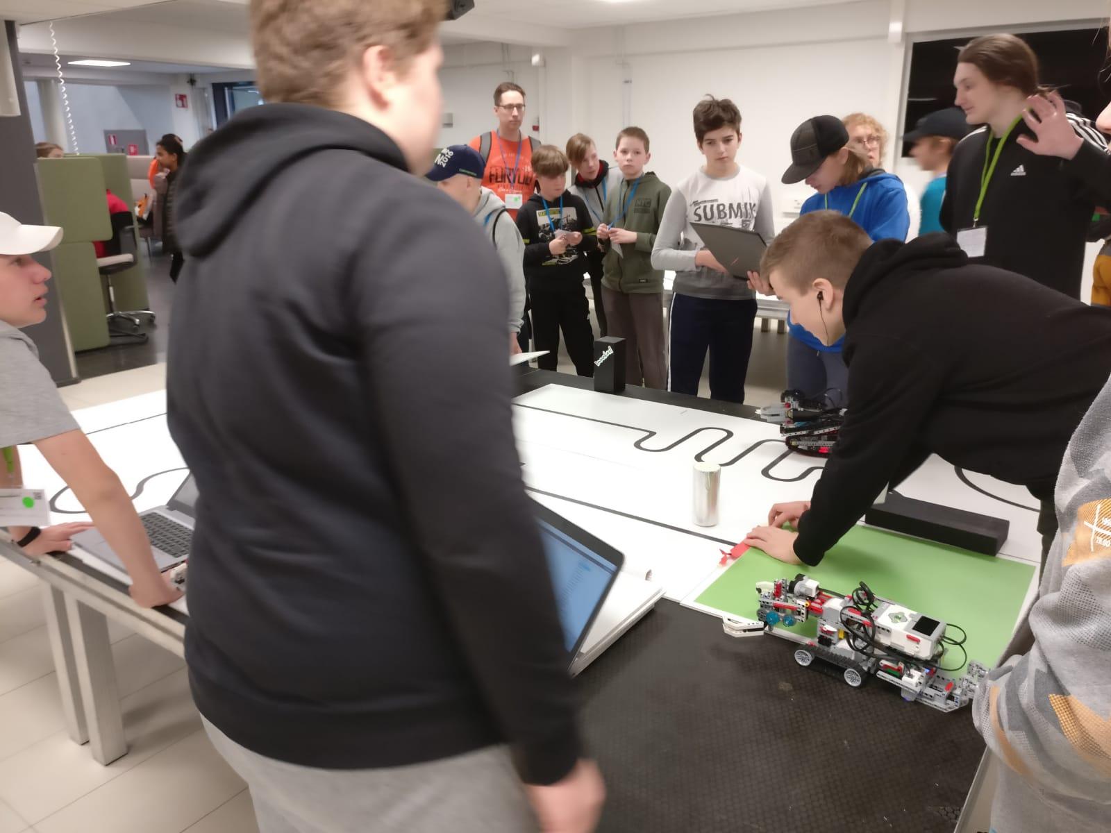 Lappeenrannassa oli myös useita muita osakilpailuita, kuten vaikkapa legorobottien ohjelmointia!