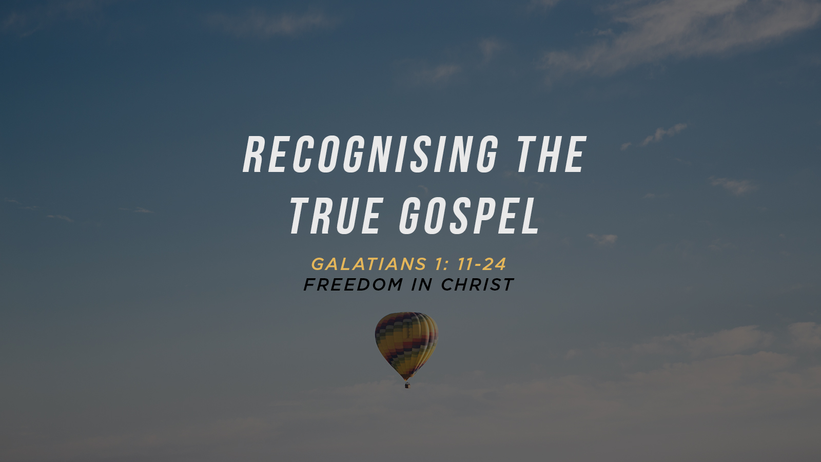 Recognising the True Gospel