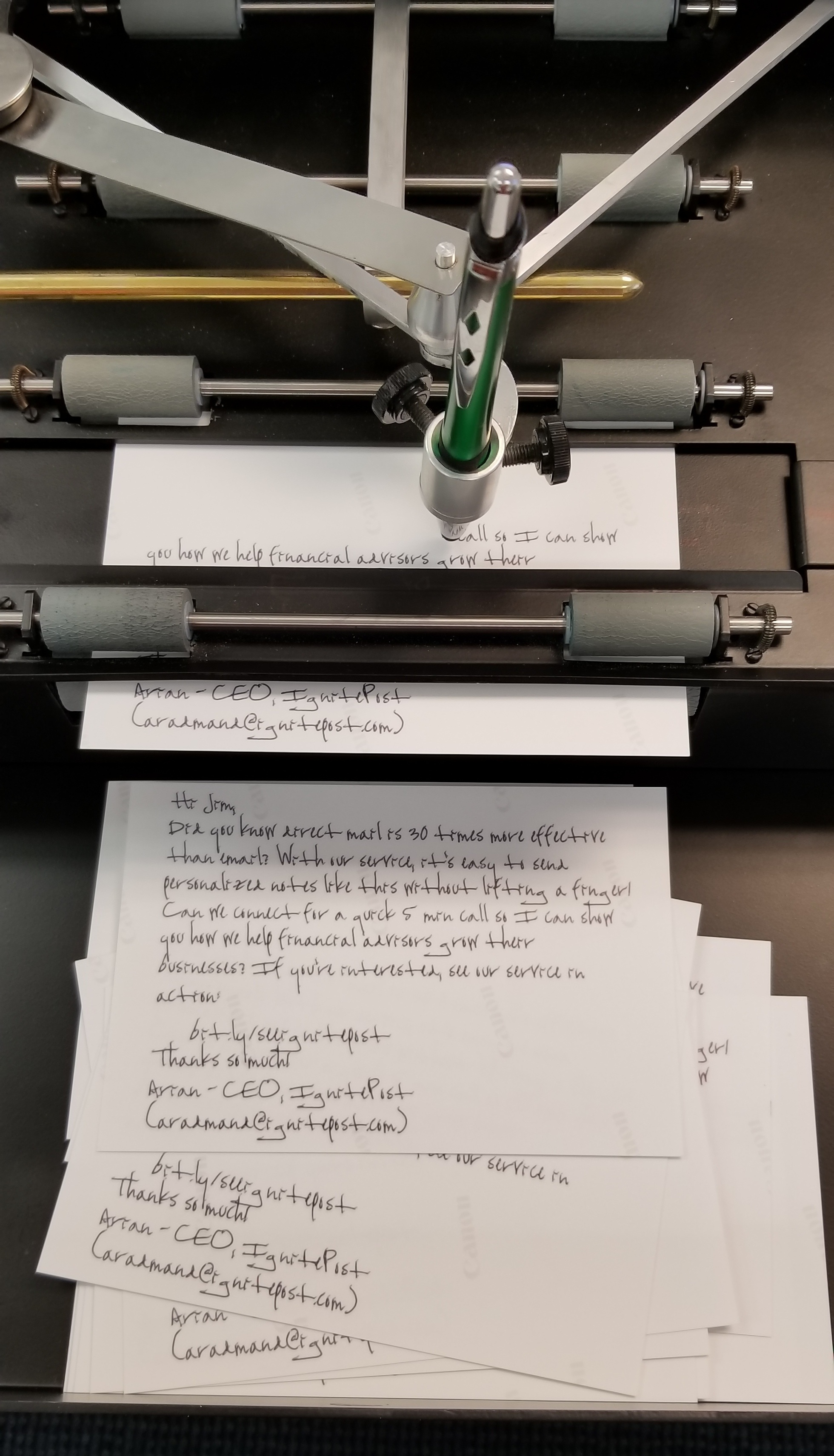 handwritting at scale