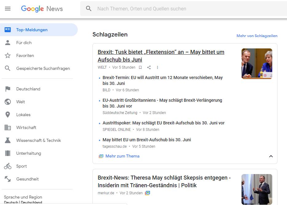 Google News  より(4月5日19時現在)