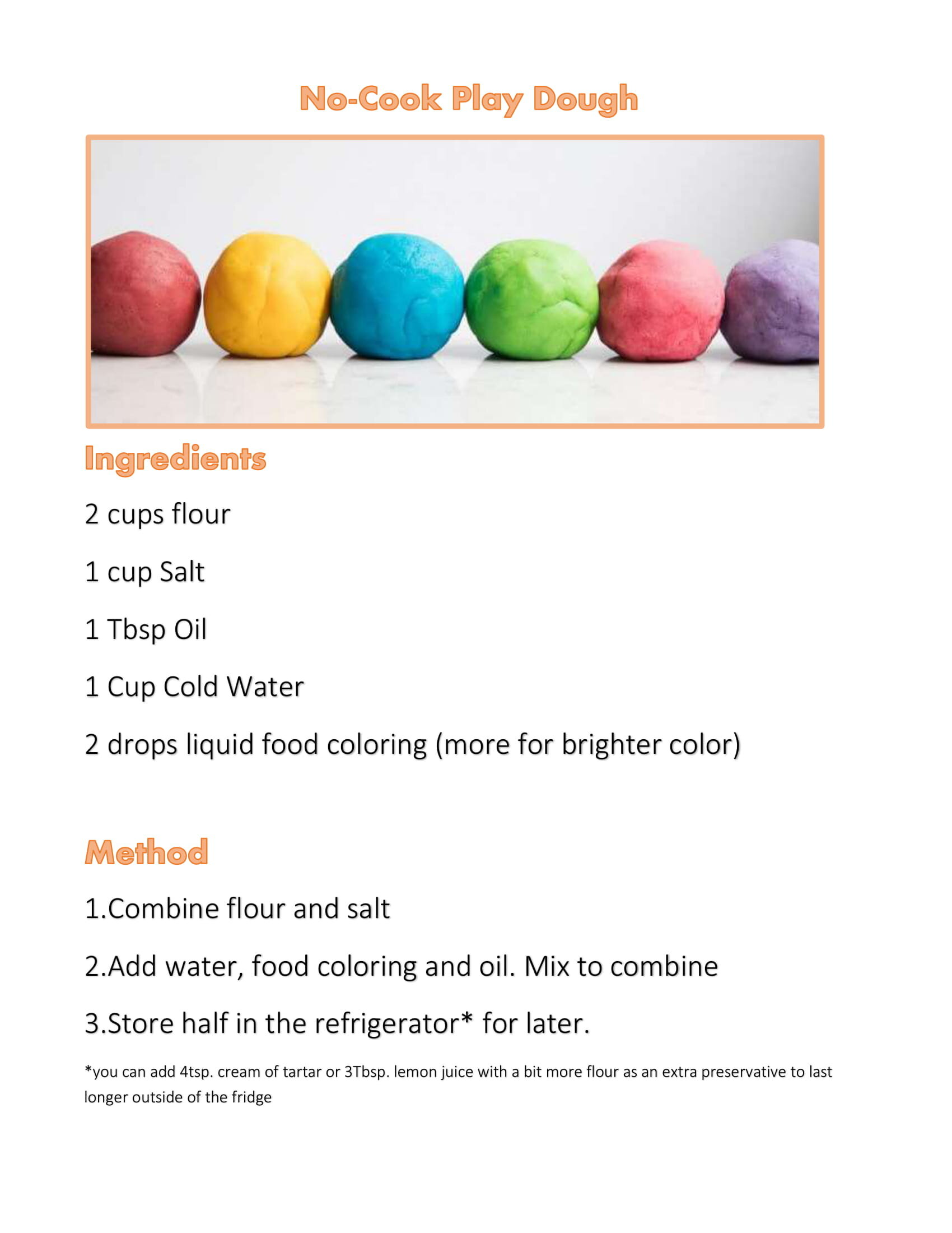 Playdough Recipe Without Cream Of Tartar Uk Image Of Food Recipe