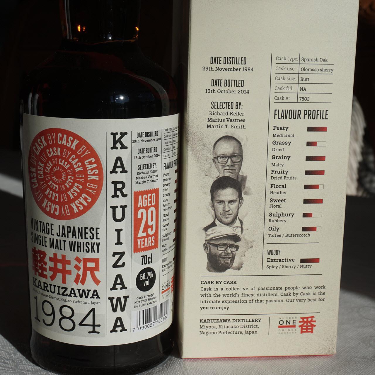 Karuizawa 1984 29 YO Cask #7802 Cask by Cask - details