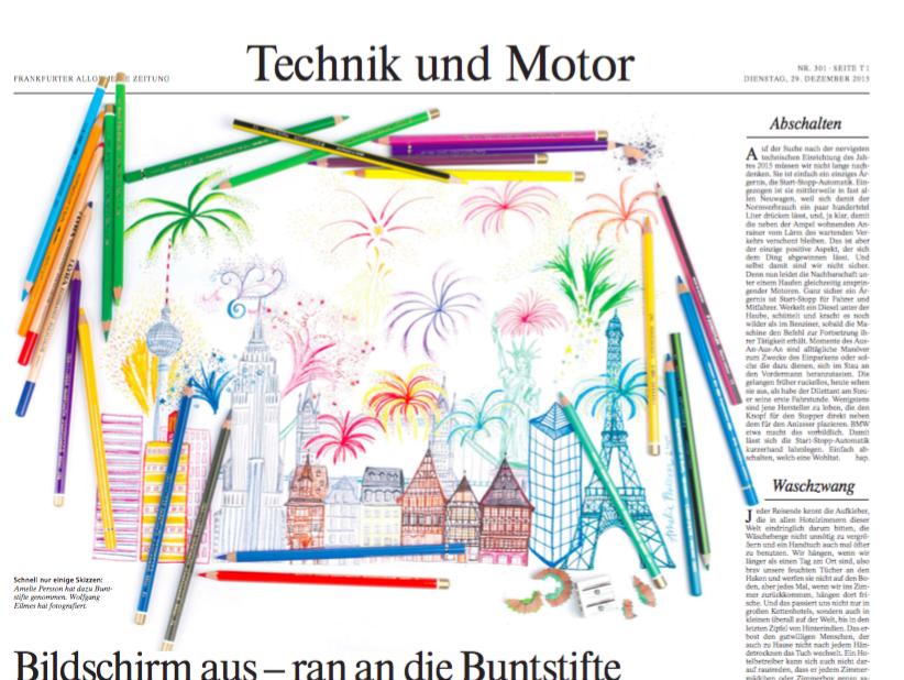Illustration for Frankfurter Allgemeine Sonntagszeitung 2016 / AD: Tobias Stier