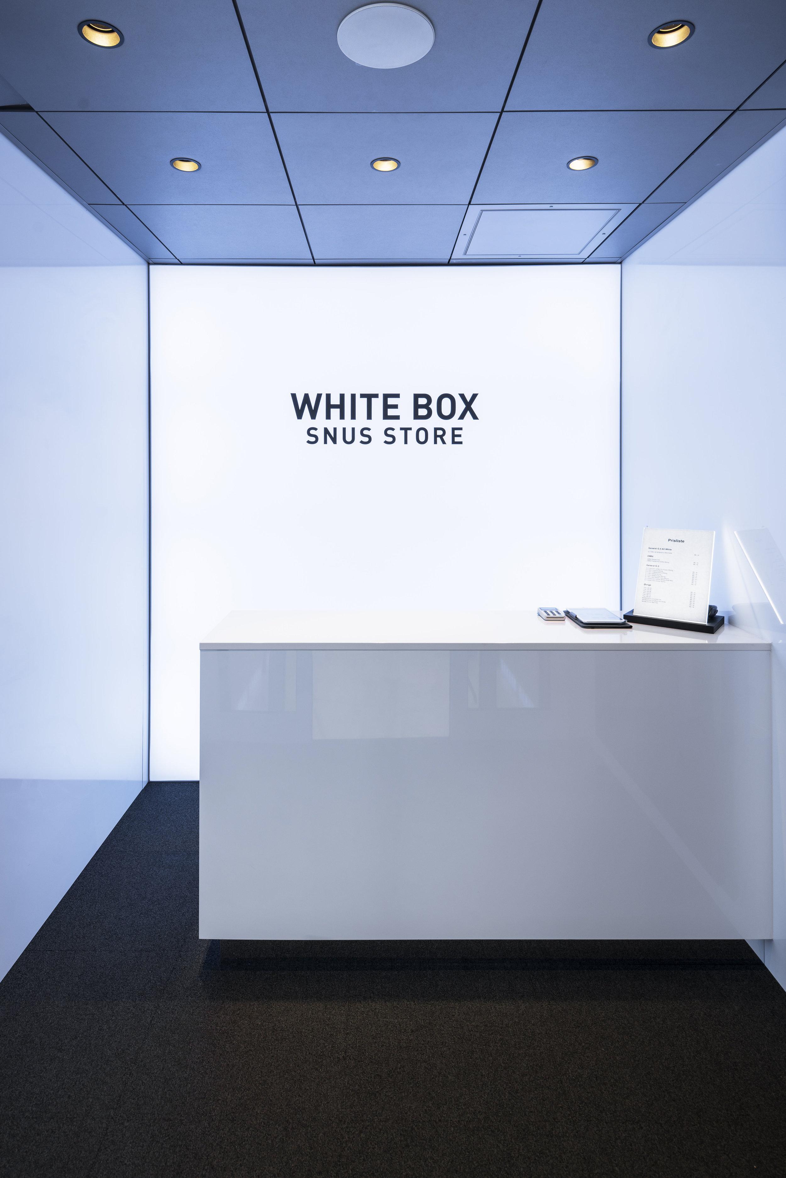 White Box Snus Store Oslo - Retail Concept Solution