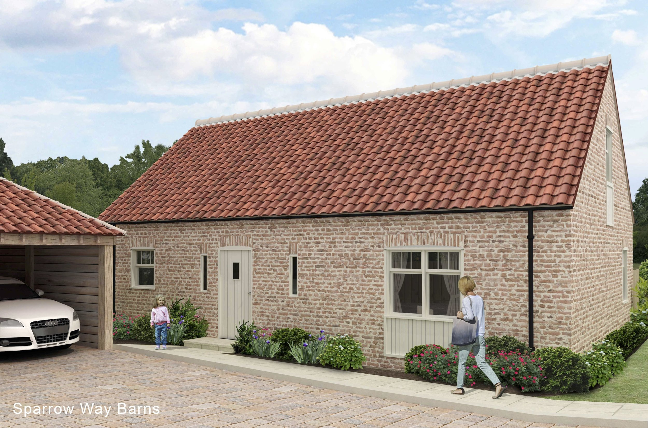 Meadow Cottage - SoldA 3 bedroom property with 2 sets of bifold doors opening out on to the south facing garden.