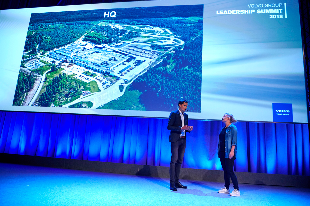 Roleplaying at Volvo Group's leadership summit