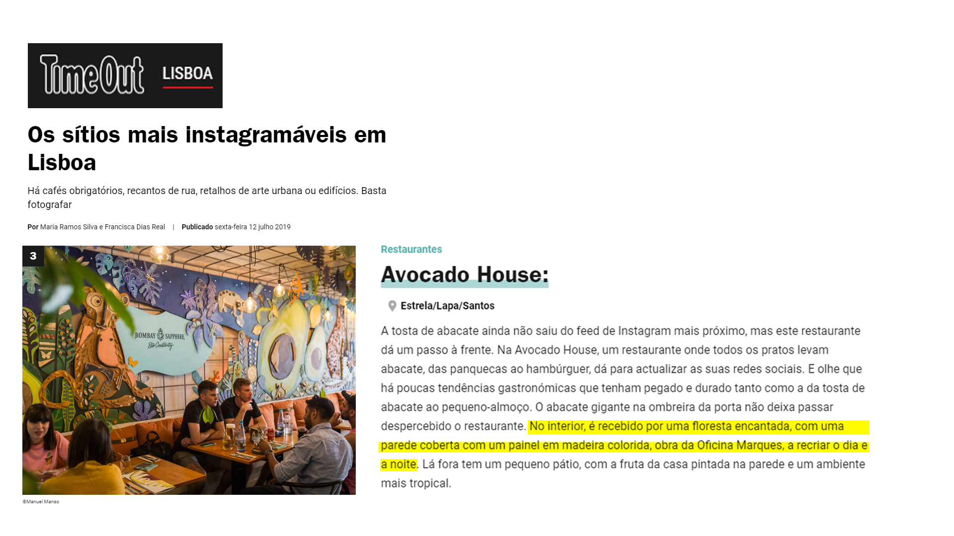 Oficina Marques // Avocado House Lisbon // Time Out Lisboa