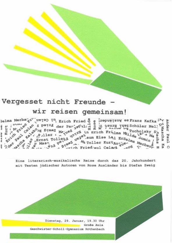 Plakat zur Lesung  Foto: Geschwister-Scholl-Gymnasium