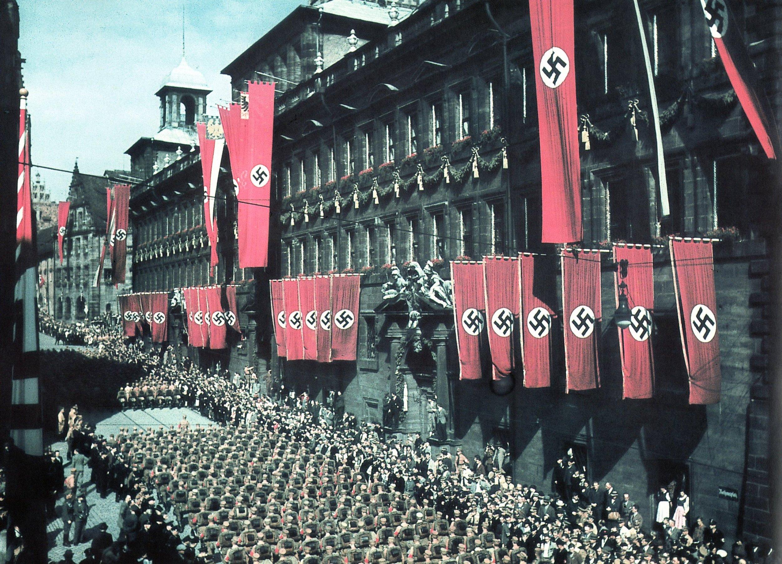 """Die Nürnberger Innenstadt diente im """"Dritten Reich"""" als Propagandakulisse. Foto: Geschichte Für Alle e.V. – Institut für Regionalgeschichte"""