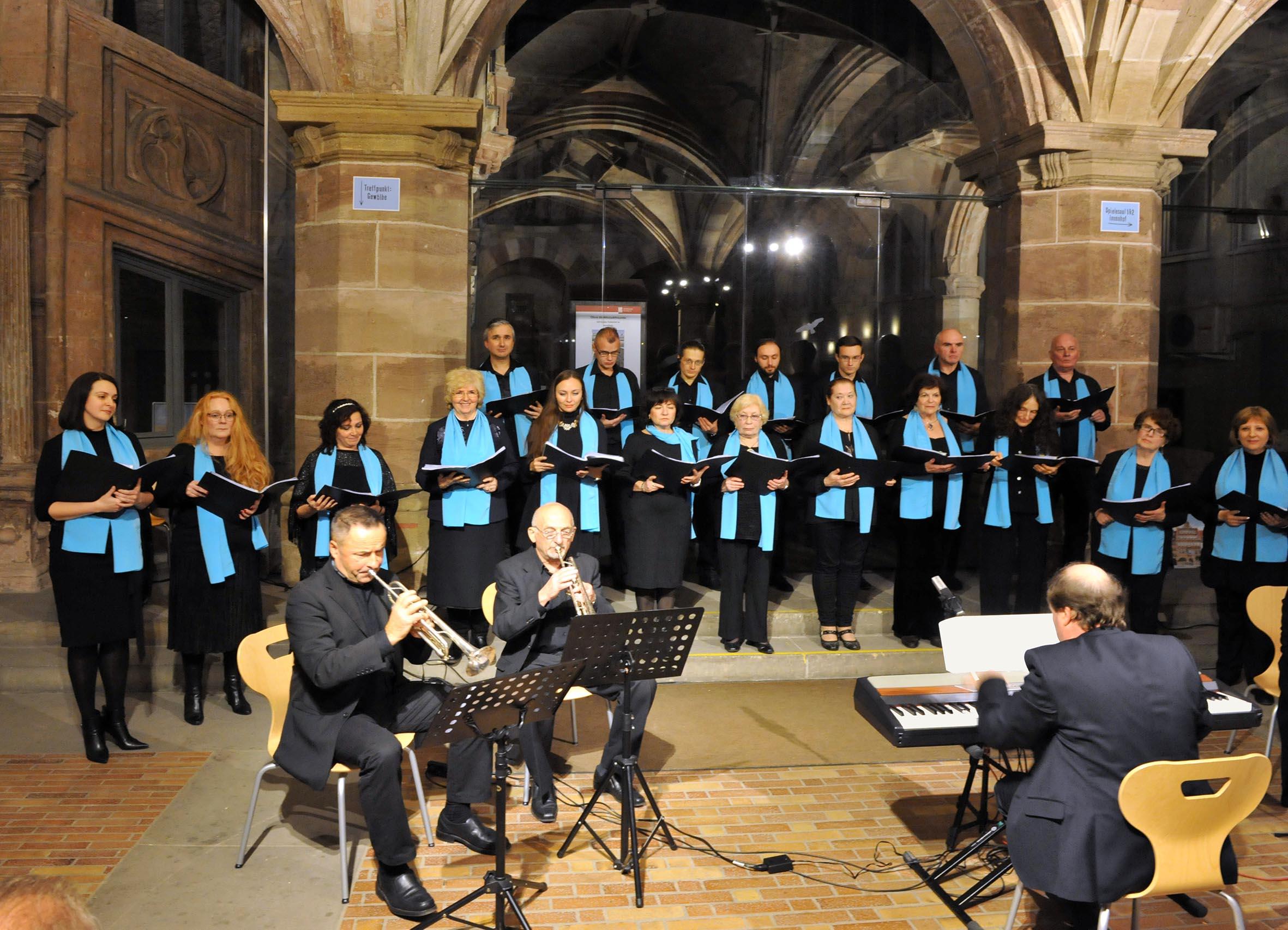 Bereits im Herbst 2017 begeisterte der Chor im ausverkauften Pellerhaus das Publikum. Foto: Archiv Altstadtfreunde, Fotograf Alexander Bruch