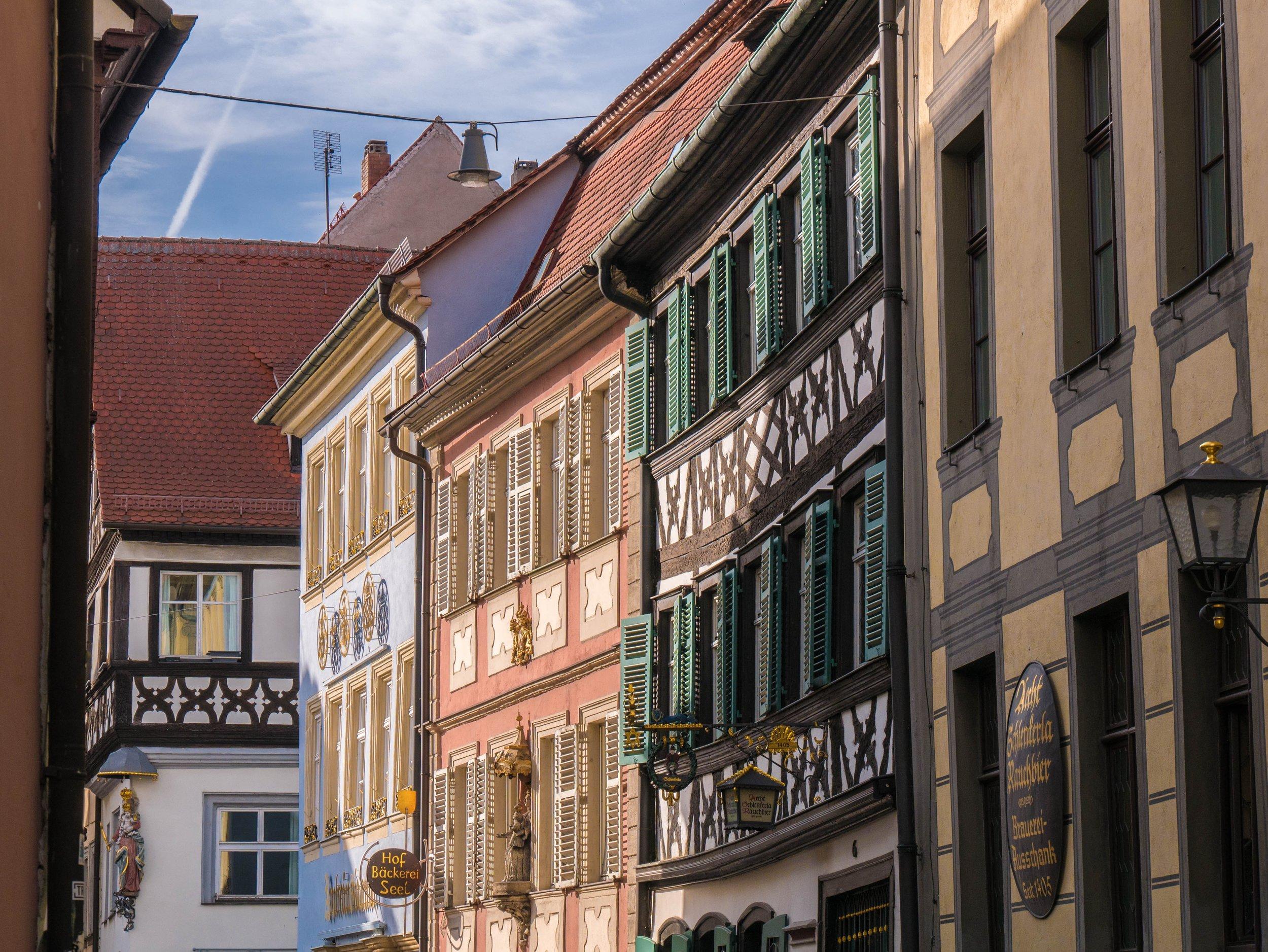 Bamberger Altstadt mit ihren kleinen Gässchen.
