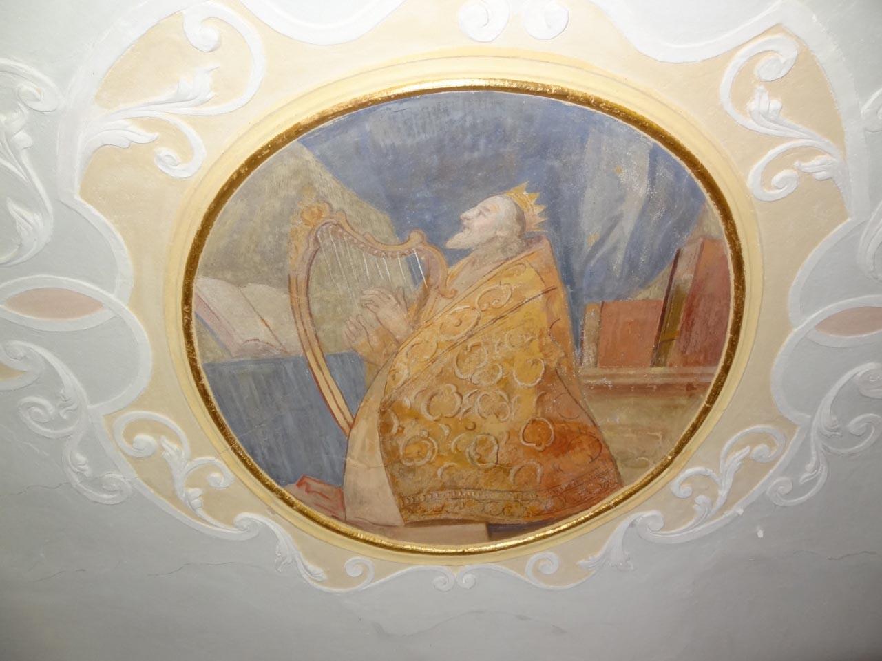 David mit Harfe - Kalvarienbergkirche Schnaittach. Foto: Birgit Kroder-Gumann