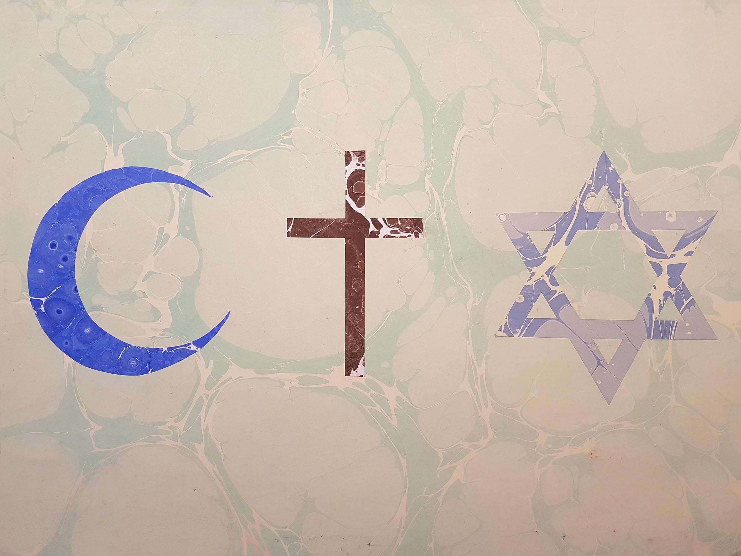 Symbol der abrahamitischen Religionen. Foto: Begegnungsstube Medina e.V.