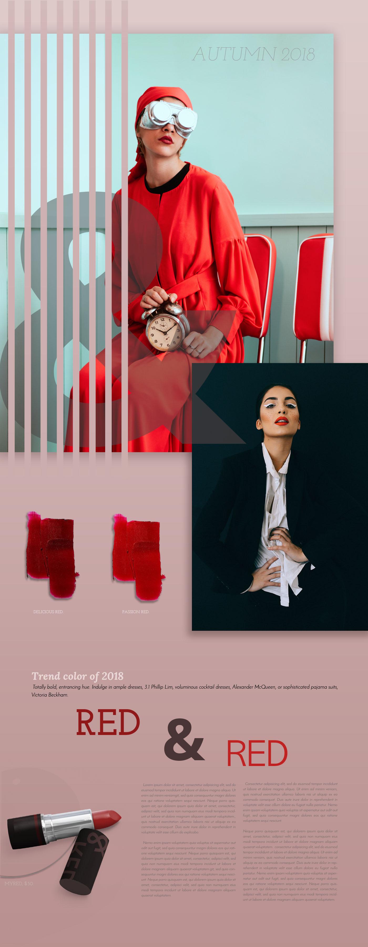 Autumn 2018 - Red Lipstick trends
