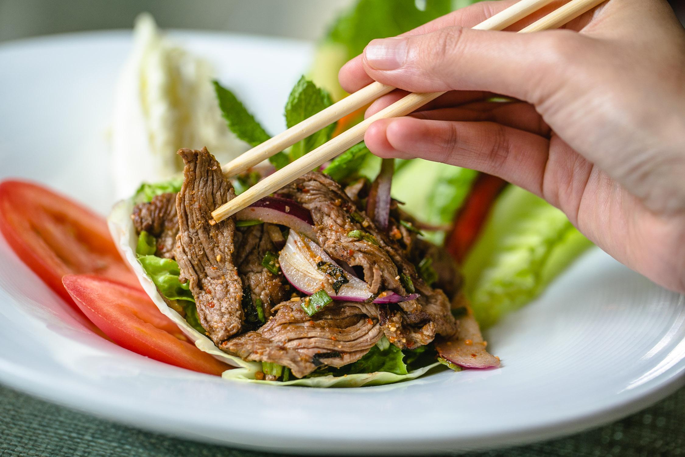 Nan-Thai-Fine-Dining-Sald-with-Chopsticks-Erik-Meadows
