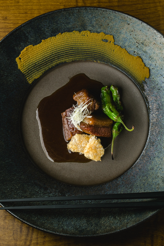 Chirori-Robata-and-Sake-Pairing-Simmered-Pork-Belly Kakuni-Erik-Meadows