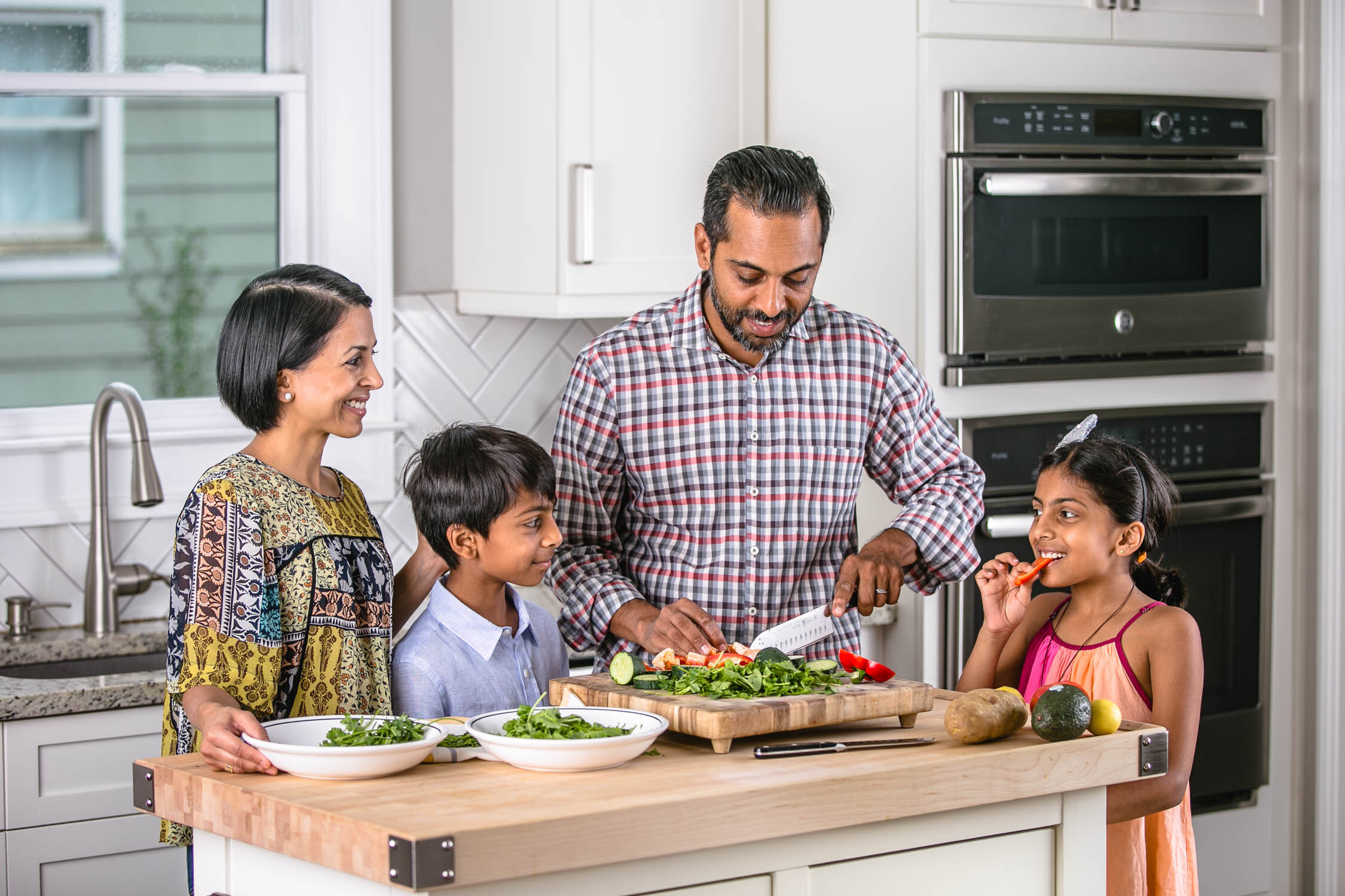 Indian-American-Family-in-Kitchen-Erik-Meadows