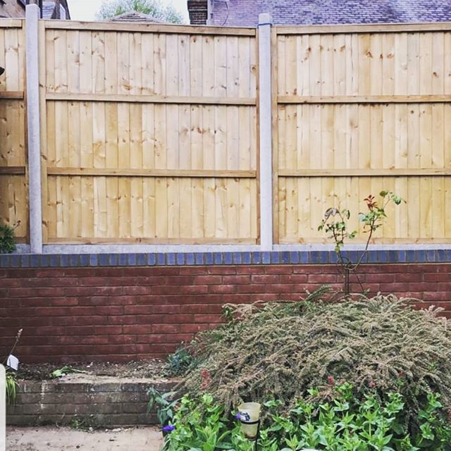 Garden wall #brickwork #landscaping #fence #builders #sjohnsonandsonsbuilders