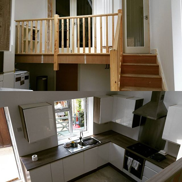 Stairs,kitchen and doors fitted from last week #kitchen #carpentry #builders #sjohnsonandsonsbuilders #stairs #extensions #worktops