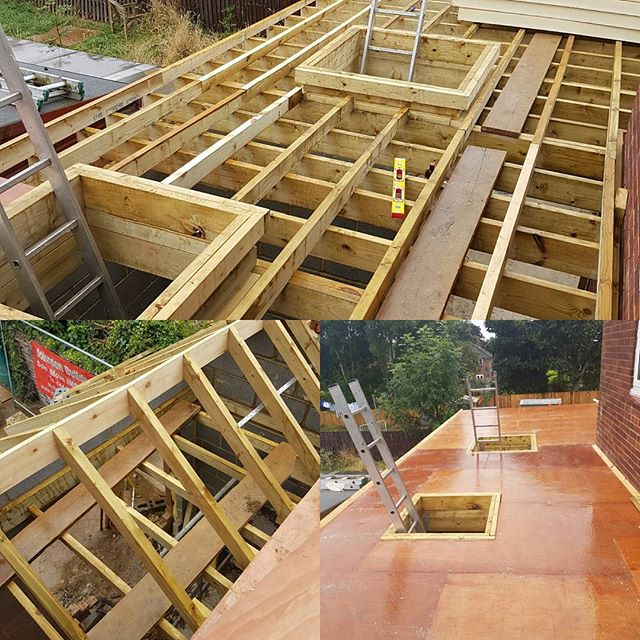 Getting ready for the flat roof, nearly there #builders #carpentry #flatroof #sjohnsonandsonsbuilders #roofing