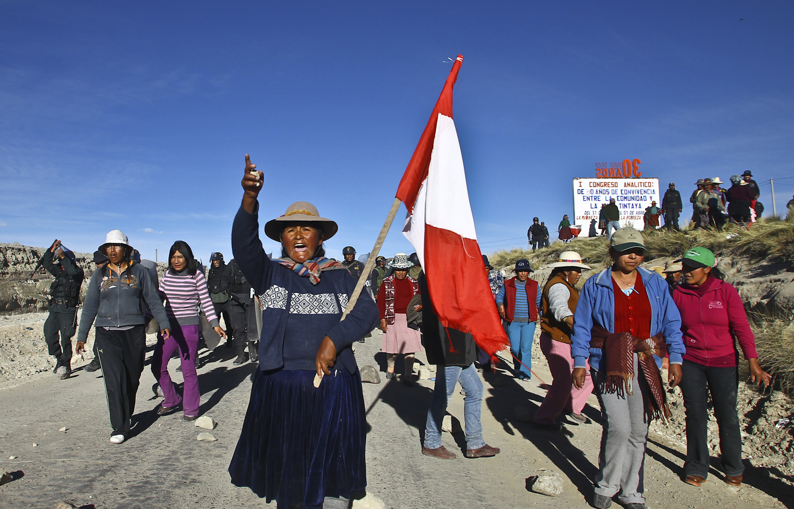 In Peru, local residents and mining companies have frequently clashed over water rights. AP Images.
