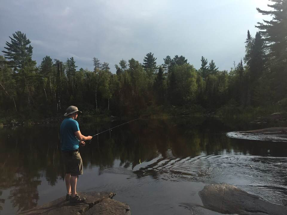 Fishing from shore is a great way to target deep holes beneath waterfalls and rapids.