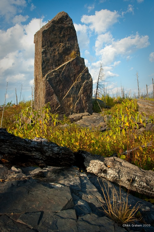 Magnetic Rock, at the western terminus of the Gunflint Trail. Photo Nick Graham