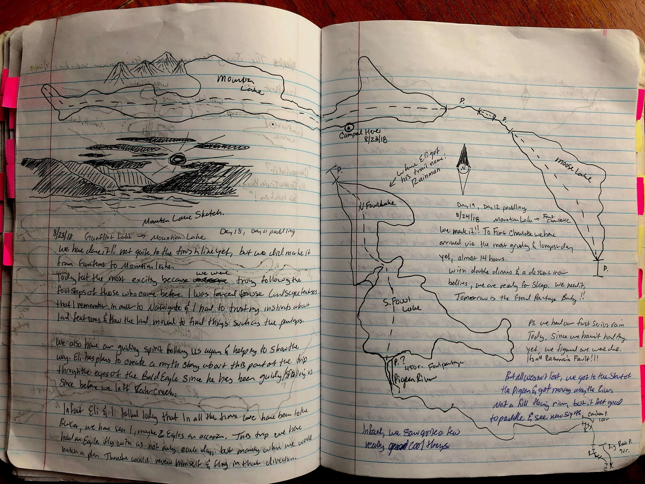 Maps sketched in Schraeder's notebook