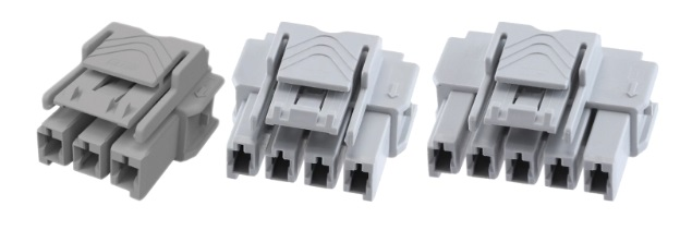 Shown above are 3-position, 4-position, and 5-position connectors.