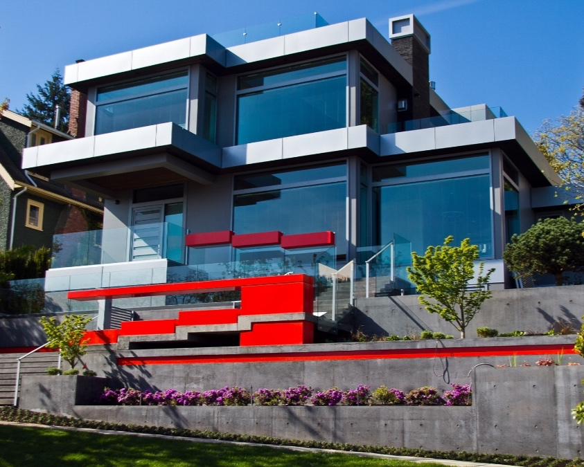 West Point Grey - Award winning, and first of its kind in North-America, porcelain slab exterior facade on a home in Vancouver, B.C.