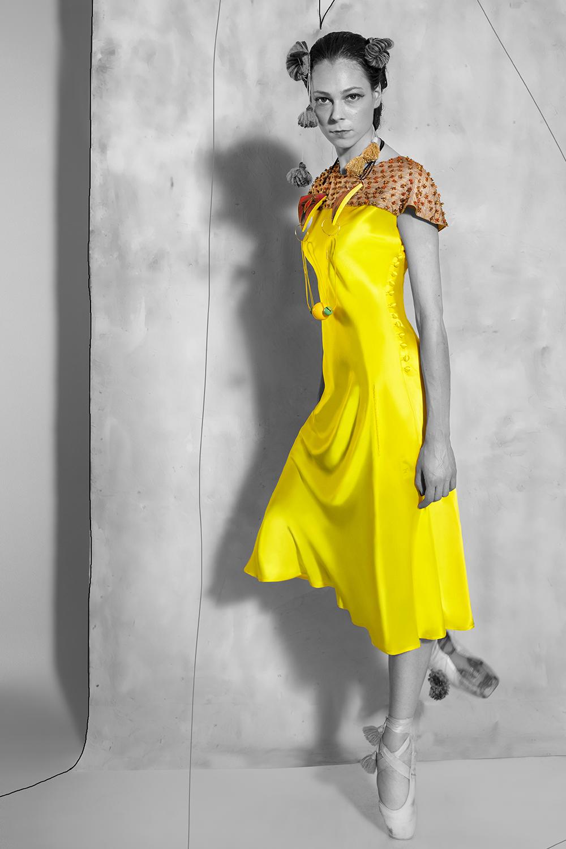 Candela Dress - Lemon Yellow