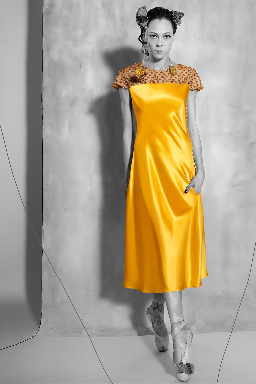 Candela Dress - Aztec Gold
