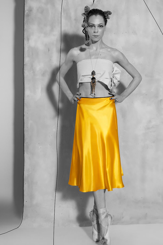 Biased Skirt - Aztec Gold