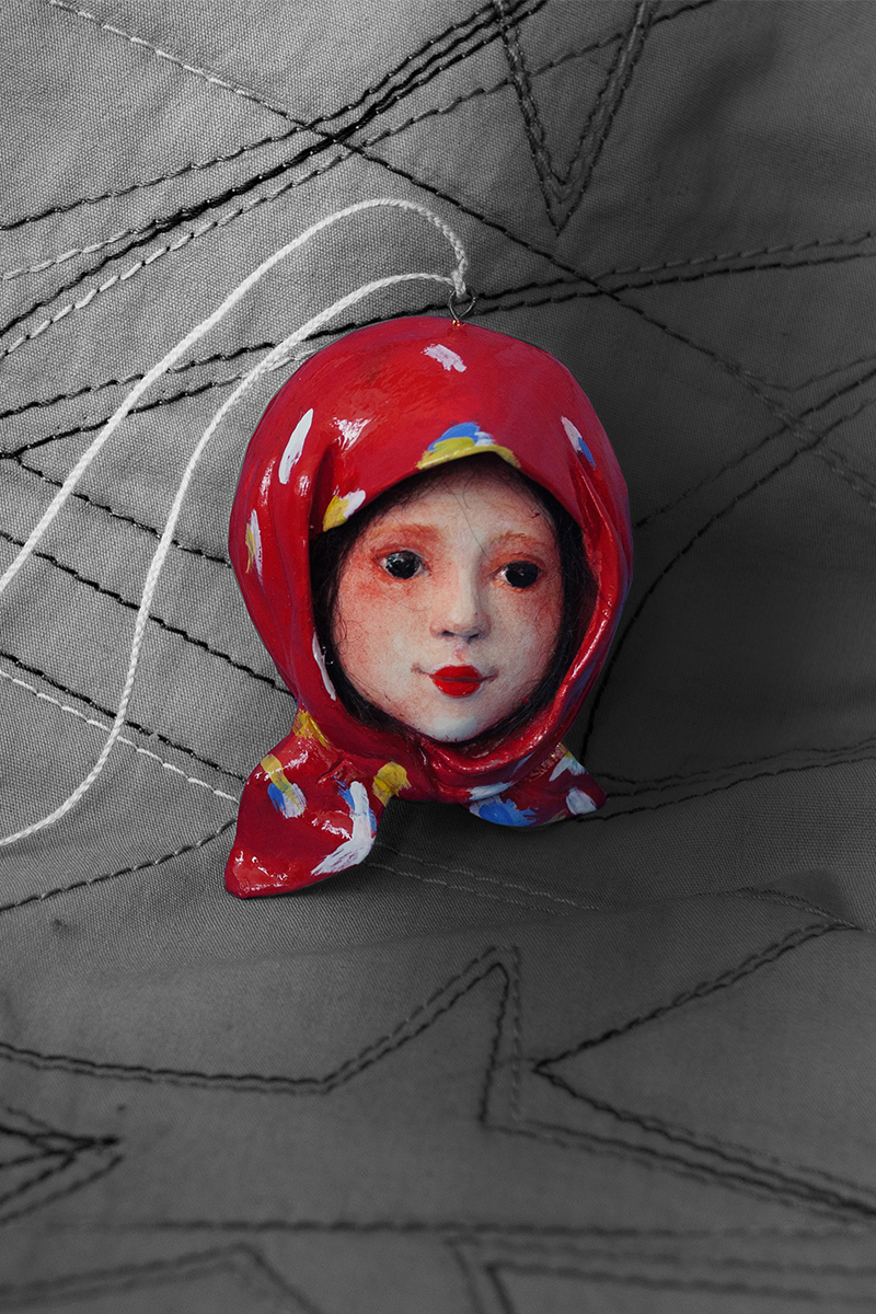 Girl with red scarf bw.jpg