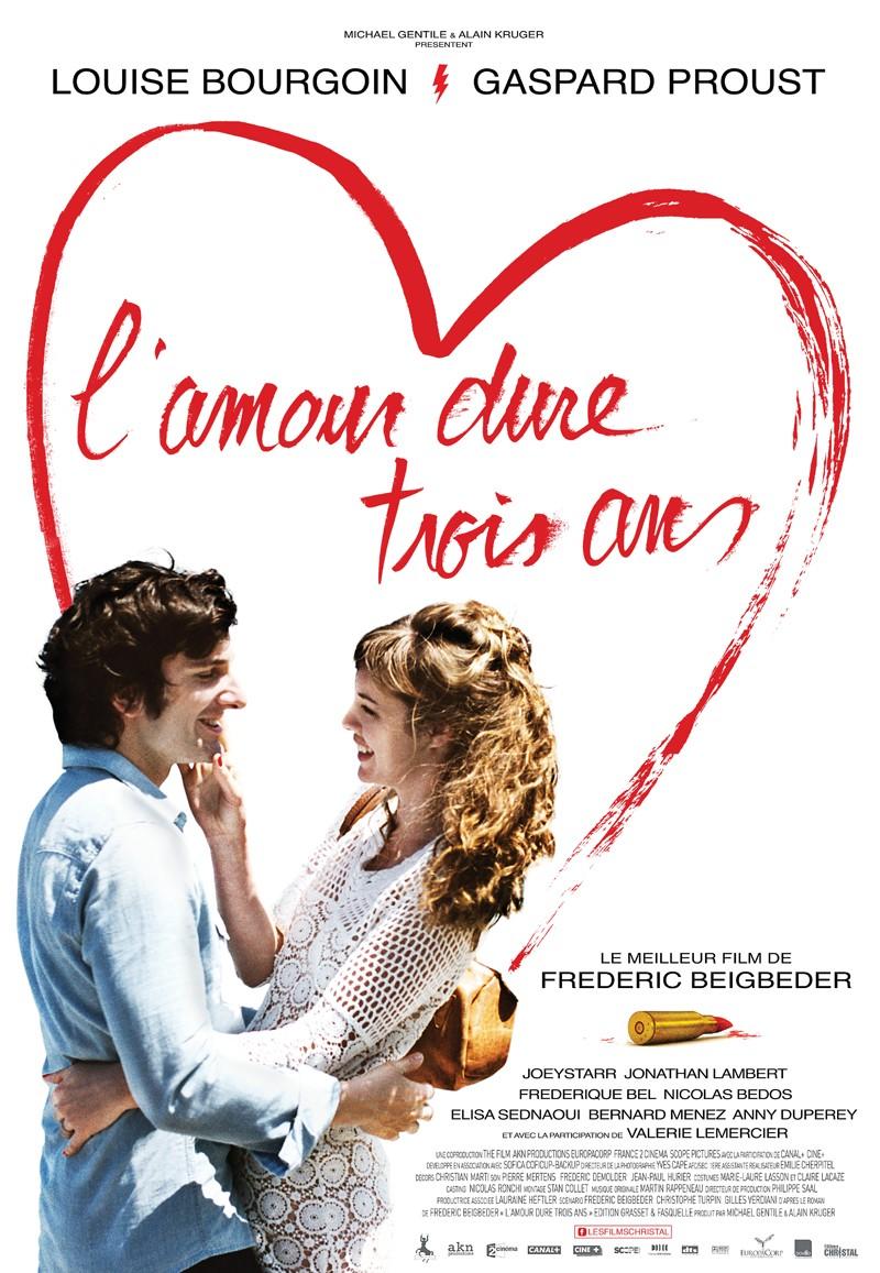 Mira la película de El amor dura tres años.