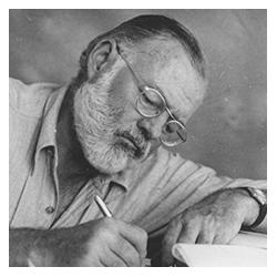 Ernest Hemingway    (1899 - 1961) Oak Park, EE.UU.